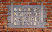 Antique Shingle Style Wood Doctorand039s Sign Ideson Naylor Shaver Kahl Johnstown Pa.