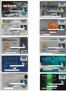 Rare Hard To Collect 156 Pcs Expired Different Business Logo Visa Credit Cards