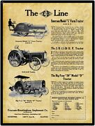 1916 Emerson Brantingham Tractors New Metal Sign Large Size 12 X 16 Free Ship.