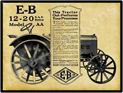 1921 Emerson Brantingham Tractors New Metal Sign Large Size 12 X 16 Free Shipp.