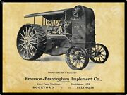 Emerson Brantingham Traction Engine New Metal Sign Reeves 40 - Rockford, Il