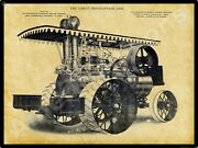 Minneapolis Threshing Machine Co New Metal Sign Double Cylinder Traction Engine
