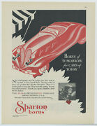 1931 Sparks Withington Co. Ad Twin Tuned Sparton Horns - Jackson Michigan