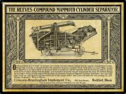1912 Emerson Brantingham Implements New Metal Sign Reeves Compound Separator