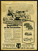 1920 Minneapolis Steel And Machinery Co. New Metal Sign Twin City 12-20 Tractor