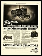 1931 Minneapolis Moline Tractors New Metal Sign All Tractor Features Listed