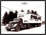 White Trucks New Metal Sign White Tractor Trailer Overland Freight Lines