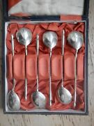 Antique Imperial Russian Silver Spoons Moscow In Box From Warsaw Xix Centure