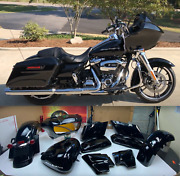 🔥15-21 Harley Touring Road Glide Black Paint Set Body Tin Front Fairing Oem
