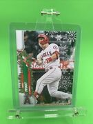 Mike Trout 2020 Topps Holiday Sp Rare Variation Candy Cane Bat Code 72 Hw 123