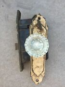Antique Vintage Classical Corbin Entry Door Knob And Lock Set And Dead Bolt Crystal