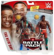 Wwe Mattel Battle Pack 63 Big E And Xavier Woods Wrestling Figures New Day Raw