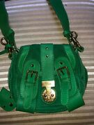 New Authentic Emerald Green Small Crossbody Bag W Key.1130.store Display