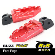 Cnc Front Rider Wide Footpegs Laser Logo For Ducati Supersport /s 17-19 18