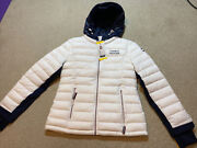 Womens Coat White Navy Jacket Quilted Puffer Size S Small Nwt