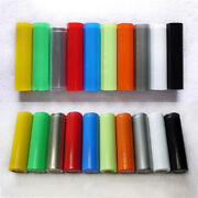 79mm29mm18650 Rc Battery Wraps Protective Sleeve Pvc Heat Wraps Tube Multicolor