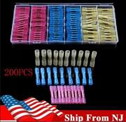 200x Electrical Crimp Terminal Car Wire Connector Insulated Heat Shrink Butt Usa