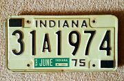 1974 Vintage Indiana Auto License Plate - Historic Year For Antique Cars