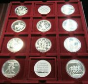 1996 Olympic Centennial 10 Piece Coin Set-sterling Silver-5 Countries Lot503