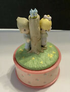 Precious Moments Figurines Small Music Box Plays And039true Loveand039andnbsp Enesco 1989 New