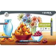 Lyra Aquacolor Water-soluble Crayons 48/pkg Assorted Colors 4084900531143
