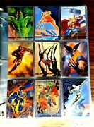 1993 Marvel Masterpieces Complete Master Set++promos++sell Sheet++sealed Box+