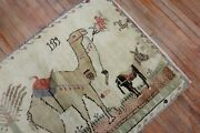 Vintage Turkish Pictorial Camel And Donkey Rug Size 3and0392and039and039x4and0398and039and039