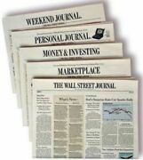 Wall Street Journal Subscription Print And Digital 1 Year Wsj 4-5 Day Start Time