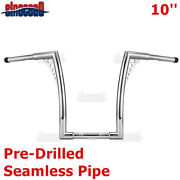 1-1/4and039and039 Chrome 10 Ape Hanger Handlebar For Harley Softail Deluxe Heritage Slim