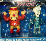 New Year Without A Santa Claus Ornament Set Heat Miser And Snow Miser Neca Pvc