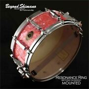 Beyond Shimano Bsrr4055d Pure Pearl Pink Custom Snare Drum With Resonance Ring