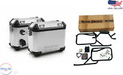 Royal Enfield Himalayan Panniers Rails And Boxes Silver With Free One Oil Filter
