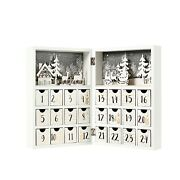 Christmas Reusable Wooden Advent Calendar Book With Drawers For Adults Kids
