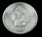 Rare 1 Oz .999 Fine Silver Art Bar Round The Style Of A Indian Head Cent Lot361