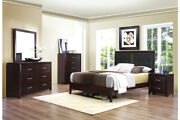 Bedroom Furniture Queen/ Full/ Twin Sleigh Size Bed Espresso Finish Contemporary