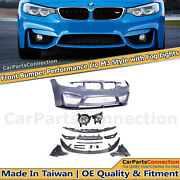 F80 M3 Style Front Bumper W/ Performance Lip For 2012-2018 Bmw F30 F31 3-series