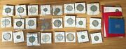 Lot Of 131 World Silver Coins No U.s. Plus 4 Coin Sets And 2 Commemoratives