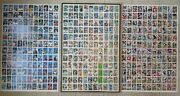 3 Uncut Sheets Topps Baseball/football Collectable Cards+metal Frame 44x29x1d