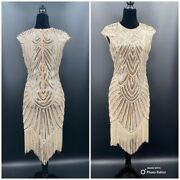 1920and039s Style Flapper Fringe Art Deco Party Dress