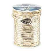 1/2 X 150and039 Double Braid Nylon Anchor Line Rope With Thimble Boat Dock Line Rope