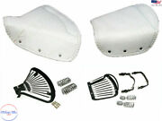 Fits Royal Enfield Ariel Lycett White Leather Complete Front And Rear Seat S2u