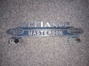 Vintage Plymouth Desoto Defiance Ohio License Plate Topper
