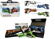 Gpx Laser Tag Blasters 4 Pack Ages 8+ Toy Play Fight Gun Gift Set Girls Boys Fun