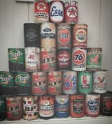 20 Old Vintage Oil Cans Rustic Petrol Motor Tin Can Replica Rusty Rust Petroleum