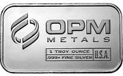 10-pack Of 1 Oz Opm Silver Bar Total 10 Oz