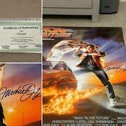 Back To The Future Rolled 1985 Uk Film Poster 6 Signatures - Ultra Rare