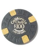 1970 California Casino Las Vegas, Nevada 100.00 Chip Great For Any Collection