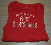 My Very First Christmas By Carters Girls 9 Month One Piece Red/white