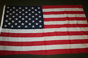 Original 1960and039s Era U.s. National 50 Star Cotton Flag Size 56 By 34