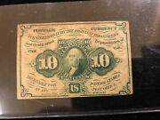 Us 10 Cent Fractional Currencyandnbsppostage From 1862 George Washington Nat.bank Nt